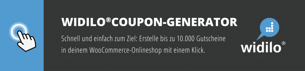 widilo®Coupon-Generator - Plugin für WooCommerce